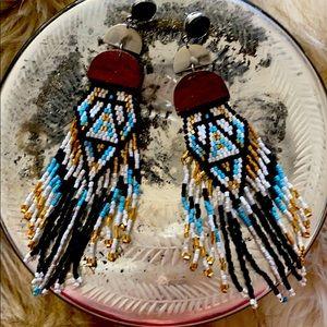 Beaded earrings. From Free People.